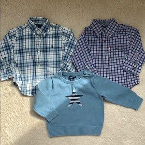 BabyGap / Ralph Lauren 12-18 Mo Boy Top Bundle